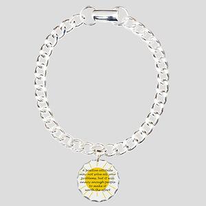 Positive Attitude Charm Bracelet, One Charm