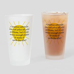 Positive Attitude Drinking Glass