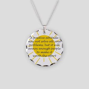 Positive Attitude Necklace Circle Charm