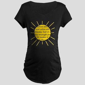 Positive Attitude Maternity Dark T-Shirt