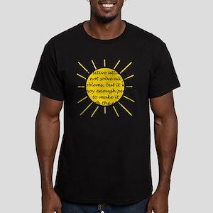 Positive Attitude Men's Fitted T-Shirt (dark)