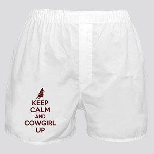 Keep Calm And Cowgirl Up Boxer Shorts