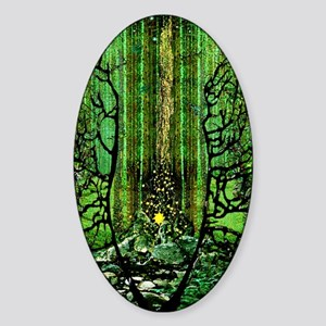 Prayer for the Forests C Lt Sticker (Oval)