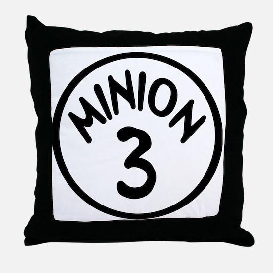Minion 3 Three Children Throw Pillow