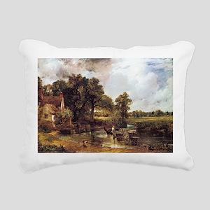 The Hay Wain Rectangular Canvas Pillow
