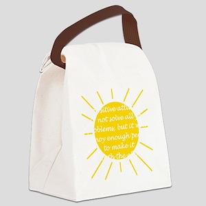 Positive Attitude Canvas Lunch Bag