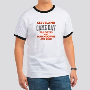 Cleveland Game Day Football Fan Ringer T