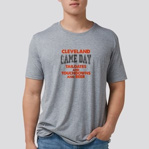 Cleveland Game Day Football Mens Tri-blend T-Shirt
