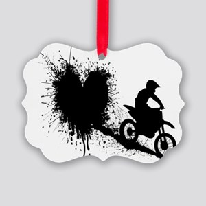 splatter heart Picture Ornament