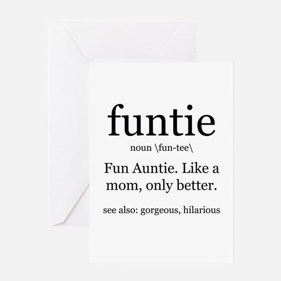 fun auntie definition Greeting Cards