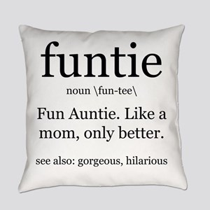 fun auntie definition Everyday Pillow