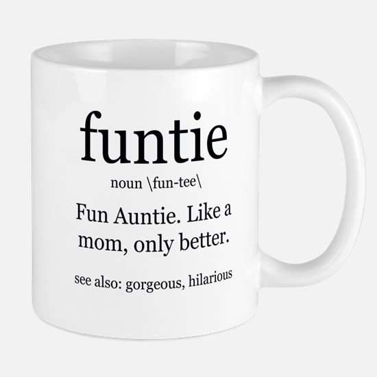 fun auntie definition Mugs