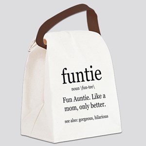 fun auntie definition Canvas Lunch Bag