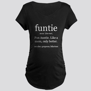 fun auntie definition Maternity T-Shirt
