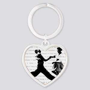 Jazz Steps Heart Keychain