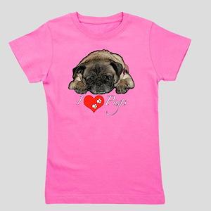 I love Pugs Girl's Tee