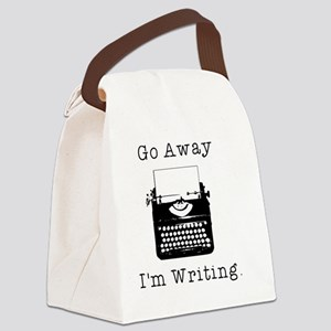 Go Away - I'm Writing Canvas Lunch Bag