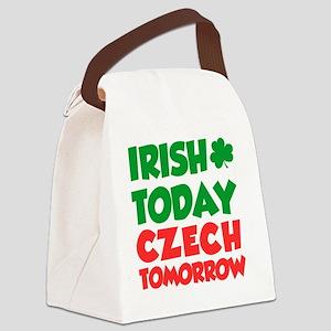 Irish Today Czech Tomorrow Canvas Lunch Bag