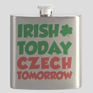 Irish Today Czech Tomorrow Flask