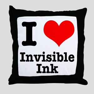 I Heart (Love) Invisible Ink Throw Pillow