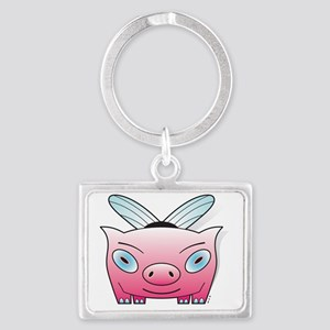 bumble pig Landscape Keychain
