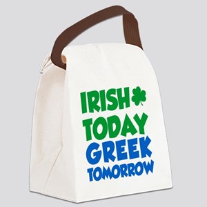 Irish Today Greek Tomorrow Canvas Lunch Bag