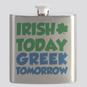 Irish Today Greek Tomorrow Flask