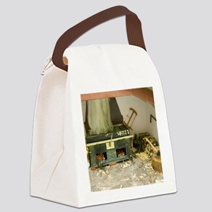 Wood Stove Room Canvas Lunch Bag