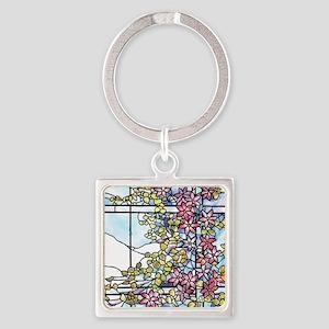 Tiffany Floral Skylight - Fenway G Square Keychain
