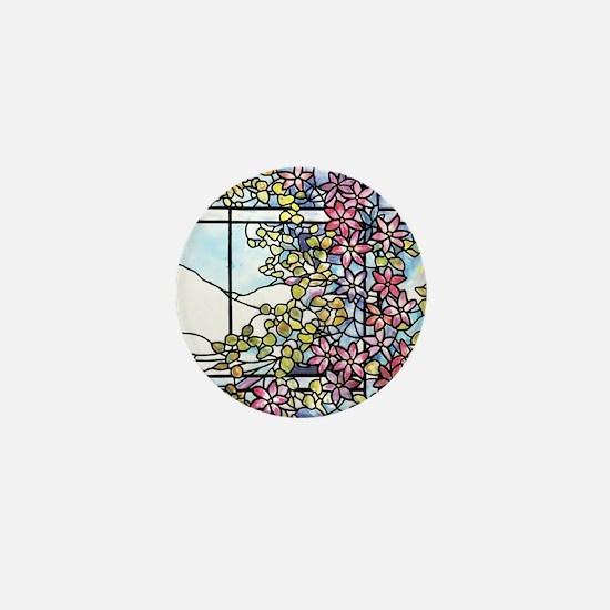 Tiffany Floral Skylight - Fenway Gate Mini Button