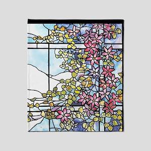 Tiffany Floral Skylight - Fenway Gat Throw Blanket