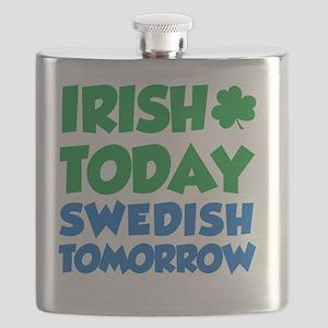 Irish Today Swedish Tomorrow Flask