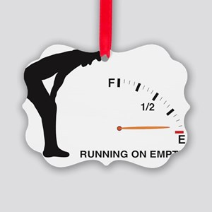Running on Empty Picture Ornament