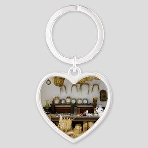 Basket Weaving Room Heart Keychain