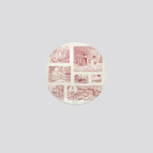English Cottages pillow Mini Button