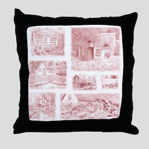 English Cottages pillow Throw Pillow