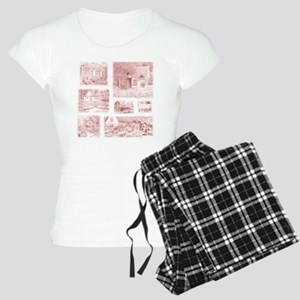 English Cottages pillow Women's Light Pajamas