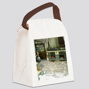 Woodworking Doll House Room Canvas Lunch Bag
