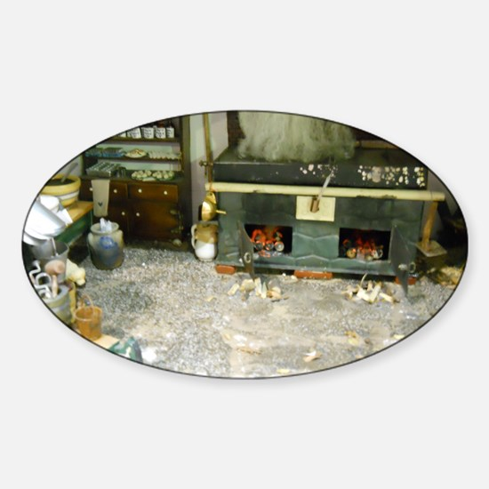 Woodworking Doll House Room Sticker (Oval)