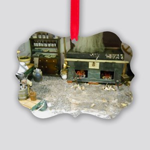 Woodworking Doll House Room Picture Ornament