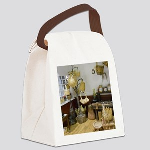 Basket Buying Doll House Room Canvas Lunch Bag