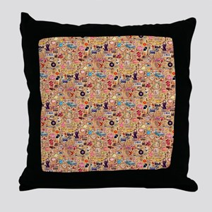Retro Collage Throw Pillow
