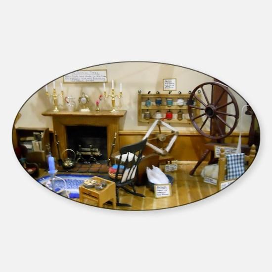 Yarn Doll House Room Sticker (Oval)