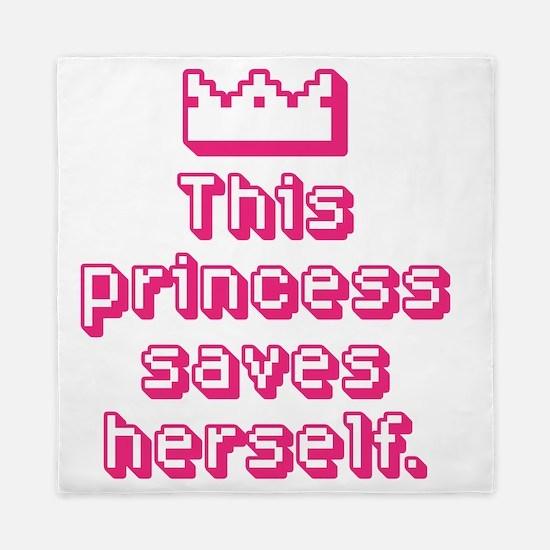 This Princess Saves Herself Queen Duvet
