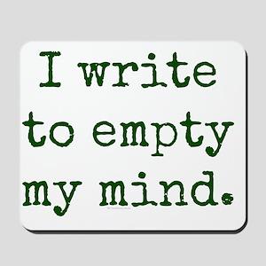 Empty mind. Mousepad