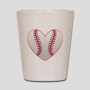 cute Baseball Heart Shot Glass