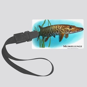 Muskellunge Large Luggage Tag