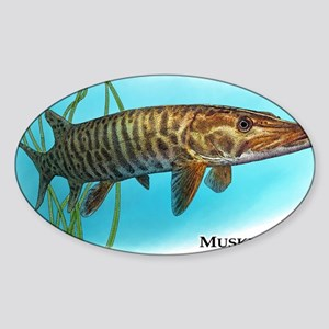 Muskellunge Sticker (Oval)