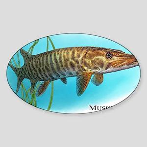 Muskellunge Sticker (Oval)