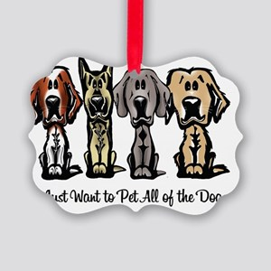 I Just Want to Pet All of the Dog Picture Ornament